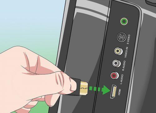 اتصال کابل HDMI به تلوزیون