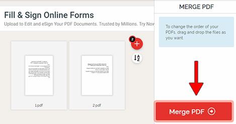 ادغام آنلاین فایل های pdf