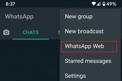 استفاده از واتساپ نسخه وبسایت
