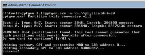 تبدیل GPT به MBR و MBR به GPT بدون حذف و از دست دادن اطلاعات