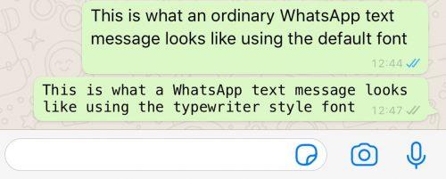 تغییر فونت متن در واتساپ
