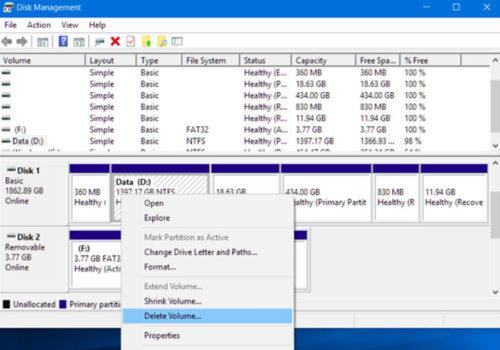 تغییر پارتیشن دیسک از MBR به GPT
