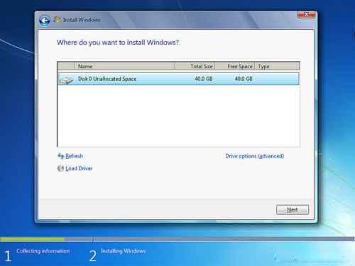 تنظیم هارد دیسک نصب ویندوز