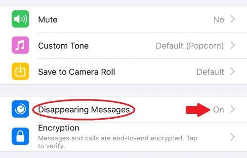 حذف خودکار پیامهای واتساپ