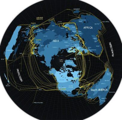 خطوط ستون فقراتی اینترنت در دنیا