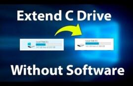 آموزش تصویری افزایش حجم درایو C در ویندوز ۱۰