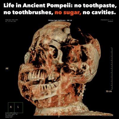 علت دندانهای سالم مردم روم باستان