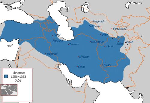 قلمرو ایران در سلسله ایلخانان