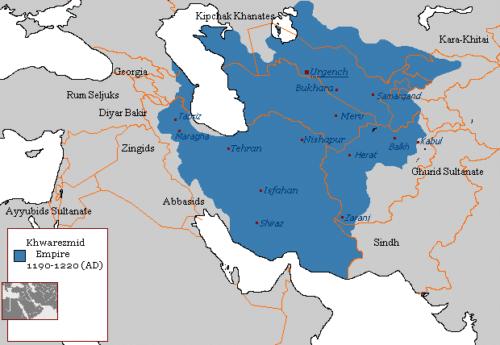 قلمرو ایران در سلسله خوارزمشاهیان
