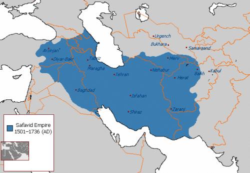 قلمرو ایران در سلسله صفویه