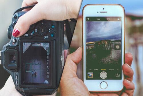 موبایل یا دوربین عکاسی