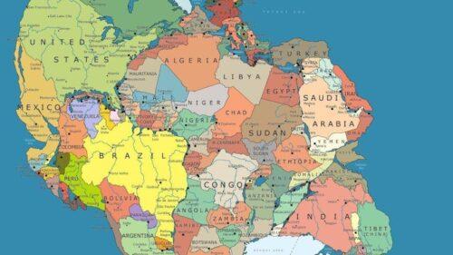 نقشه جهان در ۳۰۰ میلیون سال پیش