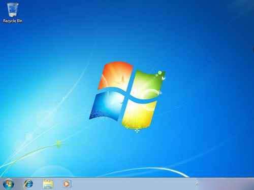 ویندوز 7 نصب شده