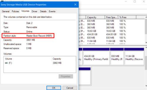 پارتیشن بندی در ویندوز 10 و تبدیل GPT و MBR
