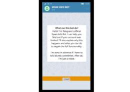 خارج کردن اکانت تلگرام از حالت اسپم report spam چطوری است؟