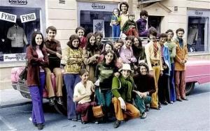 بن لادن در سن 14 سالگی (نفر چهارم از سمت راست)