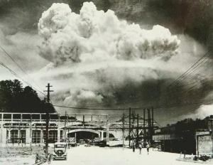 20 دقیقه بعد از بمب اتمی در شهر ناکازاکی ژاپن
