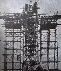 ساخت مجسمه مسیح در برزیل